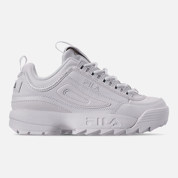 Right view of Women's Fila Disruptor II Premium Repeat Casual Shoes in White