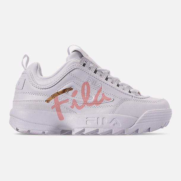 Women's Fila Disruptor 2 Premium Script Casual Shoes