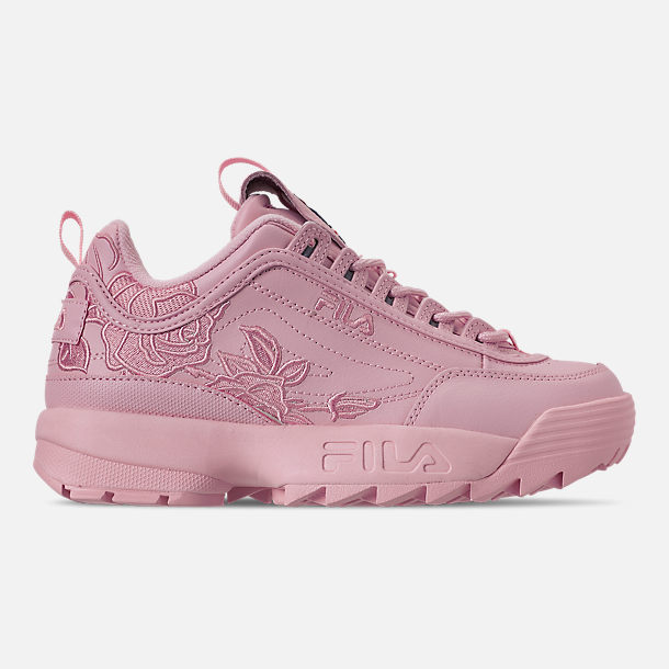 Right view of Women's Fila Disruptor II Embroidery Casual Shoes in Pink