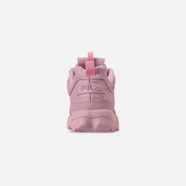 Back view of Women's Fila Disruptor II Embroidery Casual Shoes in Pink
