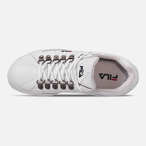 Top view of Women's Fila Trailblazer Wedge Casual Shoes in White