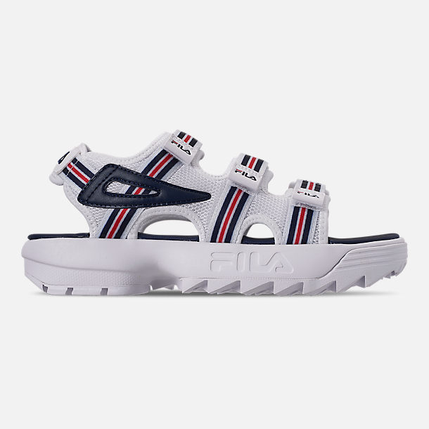 Right view of Women's Fila Disruptor Sandal HS Athletic Sandals in White/Red/Navy