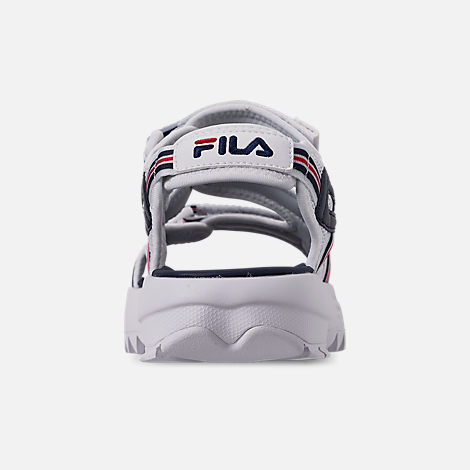 Back view of Women's Fila Disruptor Sandal HS Athletic Sandals in White/Red/Navy