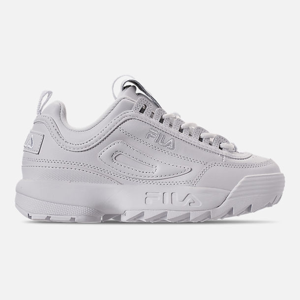 Right view of Women's Fila Disruptor 2 Premium Casual Shoes in Triple White