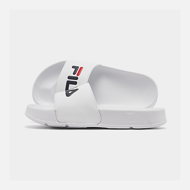 7ef3a3f2209e Right view of Women s Fila Drifter Slide Sandals in White Red Navy