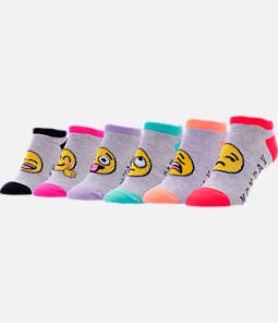 Women's Finish Line Emoji Days of the Week 6-Pack No-Show Socks