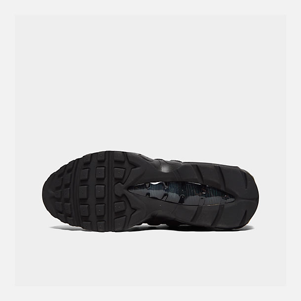 Bottom view of Men's Nike Air Max 95 Casual Shoes in Black/Anthracite