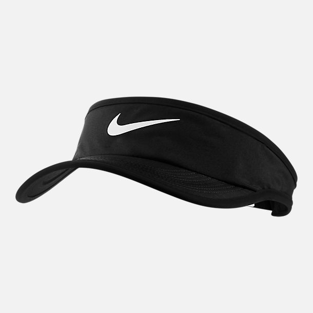 Front view of Kids' Nike AeroBill Featherlight Visor in Black