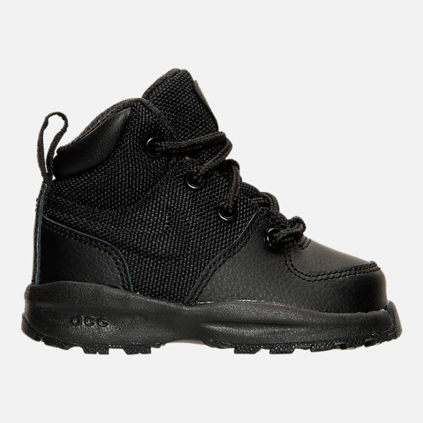 Right view of Boys' Toddler Nike Manoa Leather Textile Boots in Black/Black