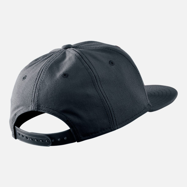 Back view of Kids' Nike Futura True Snapback Hat in Black/White