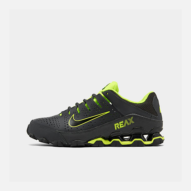 Right view of Men's Nike Reax 8 TR Training Shoe in Anthracite/Black/Volt