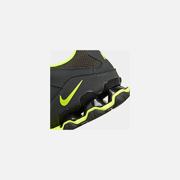 Front view of Men's Nike Reax 8 TR Training Shoe in Anthracite/Black/Volt