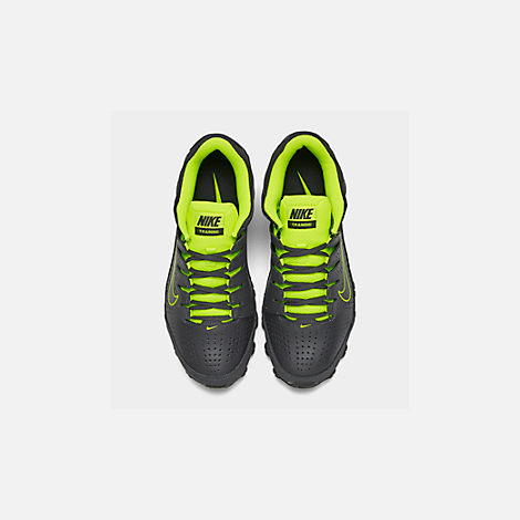 Back view of Men's Nike Reax 8 TR Training Shoe in Anthracite/Black/Volt