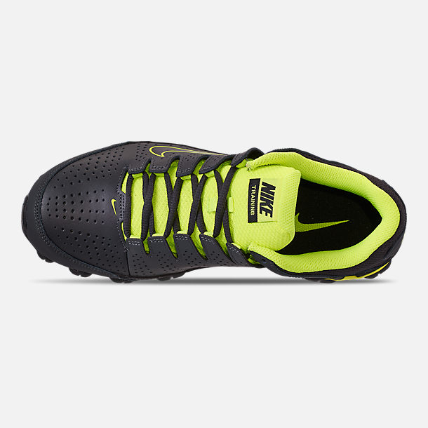 Top view of Men's Nike Reax 8 TR Training Shoe in Anthracite/Black/Volt