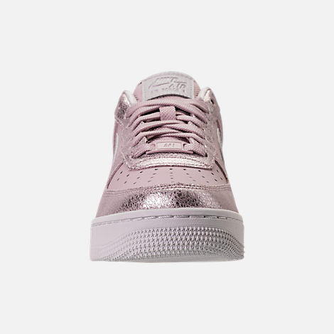 Front view of Women's Nike Air Force 1 '07 Premium Casual Shoes in Port Wine/Port Wine/Gum Med Brown