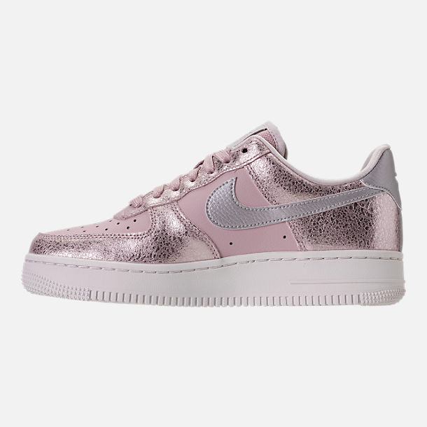 Left view of Women's Nike Air Force 1 '07 Premium Casual Shoes in Port Wine/Port Wine/Gum Med Brown