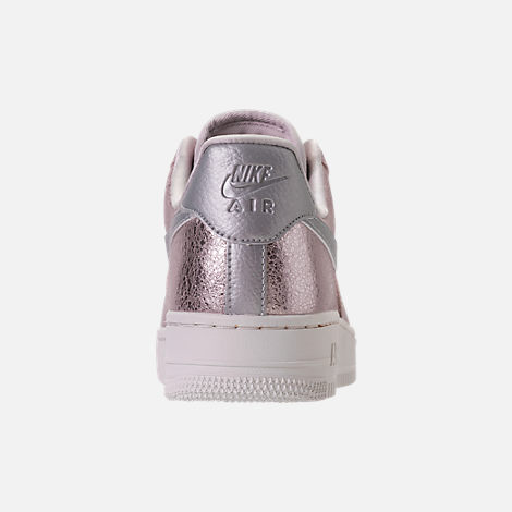 Back view of Women's Nike Air Force 1 '07 Premium Casual Shoes in Port Wine/Port Wine/Gum Med Brown