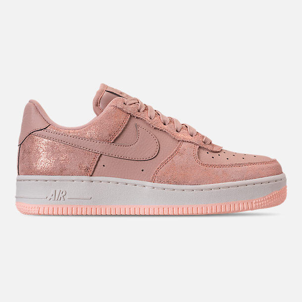 Right view of Women's Nike Air Force 1 '07 Premium Casual Shoes in Metallic Red Bronze/Particle Beige