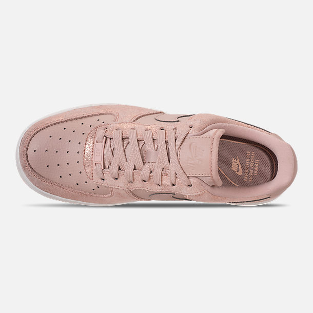 Top view of Women's Nike Air Force 1 '07 Premium Casual Shoes in Metallic Red Bronze/Particle Beige