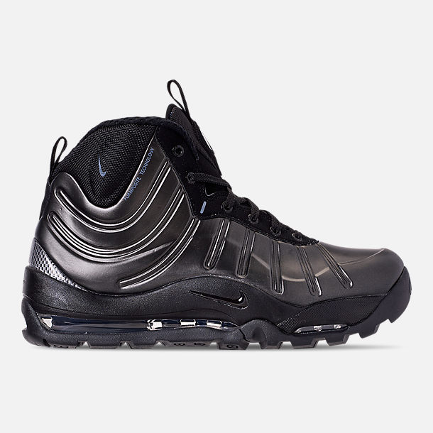 quality design 0c566 5e99f Right view of Men s Nike Air Bakin  Posite Sneakerboots in Black Anthracite