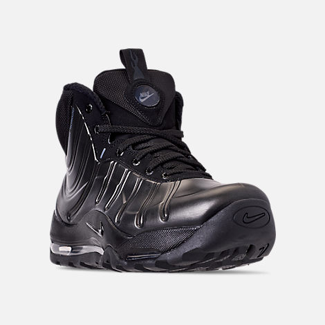 Three Quarter view of Men's Nike Air Bakin' Posite Sneakerboots in Black/Anthracite