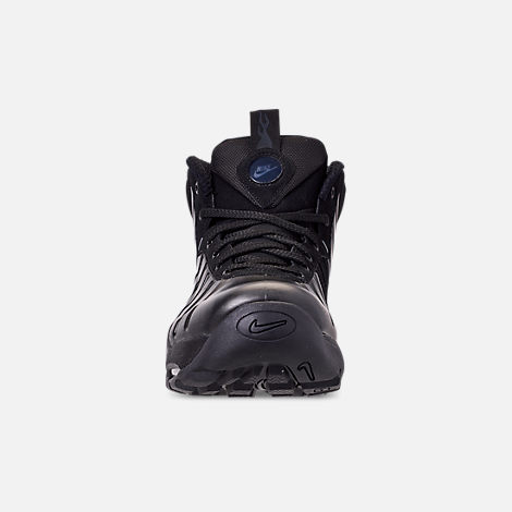 Front view of Men's Nike Air Bakin' Posite Sneakerboots in Black/Anthracite