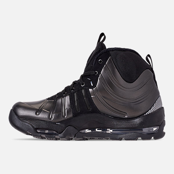 Left view of Men's Nike Air Bakin' Posite Sneakerboots in Black/Anthracite