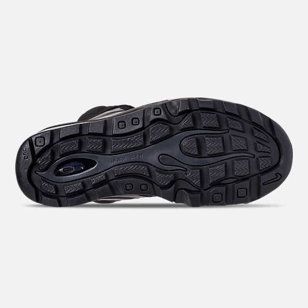 Bottom view of Men's Nike Air Bakin' Posite Sneakerboots in Black/Anthracite