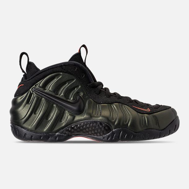 1f62224ad80 Right view of Men s Nike Air Foamposite Pro Basketball Shoes in  Sequoia Black Team