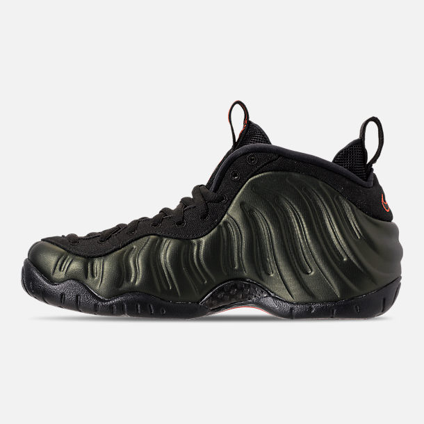 68ff1bb2015 Left view of Men s Nike Air Foamposite Pro Basketball Shoes in  Sequoia Black Team