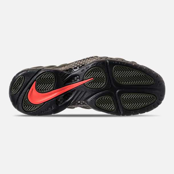 33ef6a9b56 Bottom view of Men s Nike Air Foamposite Pro Basketball Shoes in Sequoia  Black Team