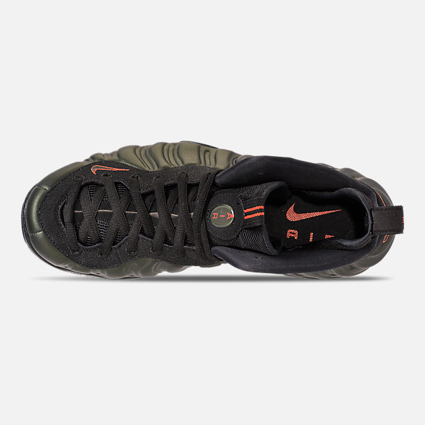 6a0079c8234 Top view of Men s Nike Air Foamposite Pro Basketball Shoes in Sequoia Black  Team
