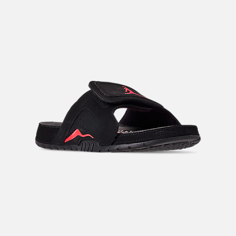 size 40 1559e f631d Three Quarter view of Men s Jordan Hydro Retro 6 Slide Sandals in  Black Infrafred 23