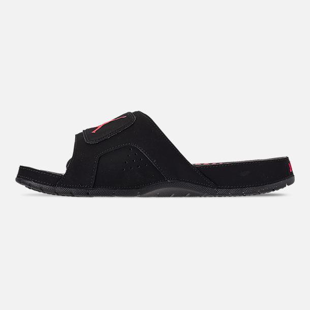23a0851ae987e6 Left view of Men s Jordan Hydro Retro 6 Slide Sandals in Black Infrafred 23