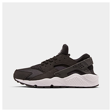 Women'S Air Huarache Run Running Sneakers From Finish Line, Black/ White