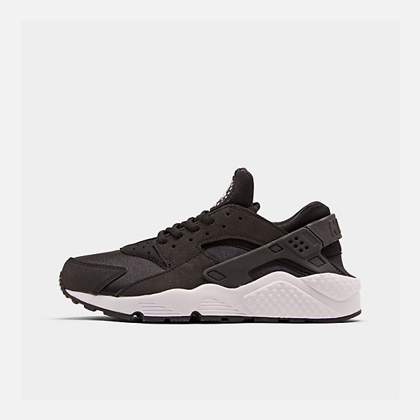Right view of Women's Nike Air Huarache Casual Shoes in Black/White