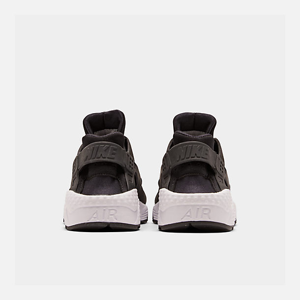 Left view of Women's Nike Air Huarache Casual Shoes in Black/White