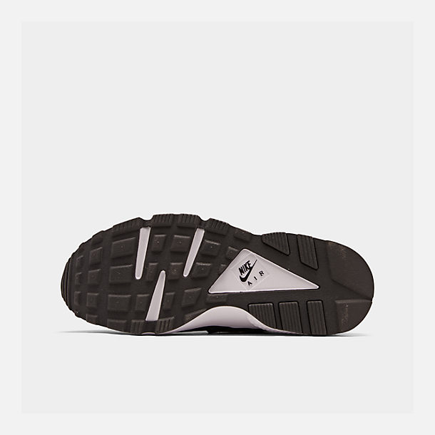 Bottom view of Women's Nike Air Huarache Casual Shoes in Black/White