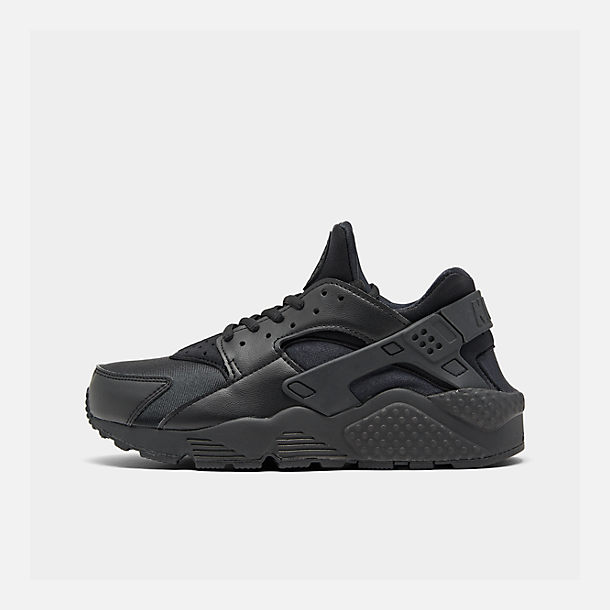 Right view of Women s Nike Air Huarache Casual Shoes in Black Black c3d620fc15