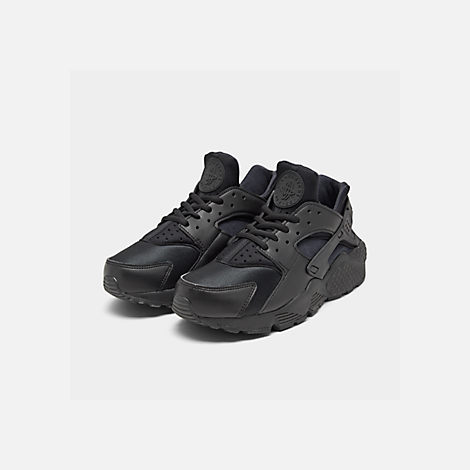 50b102f8cf80 Three Quarter view of Women s Nike Air Huarache Casual Shoes in Black Black
