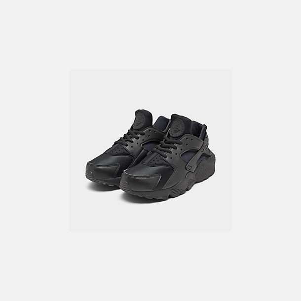 watch 1f36a bcf32 Three Quarter view of Women s Nike Air Huarache Casual Shoes in Black Black