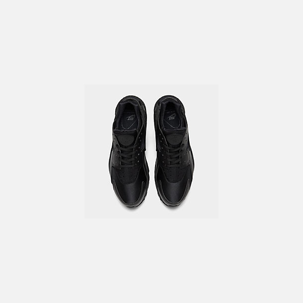 8875a3d21502 Back view of Women s Nike Air Huarache Casual Shoes in Black Black