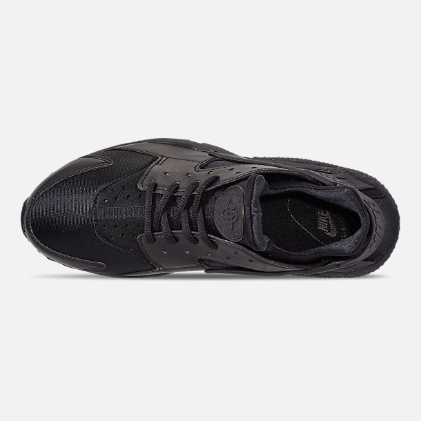 56d70239355b6 Top view of Women s Nike Air Huarache Casual Shoes in Black Black