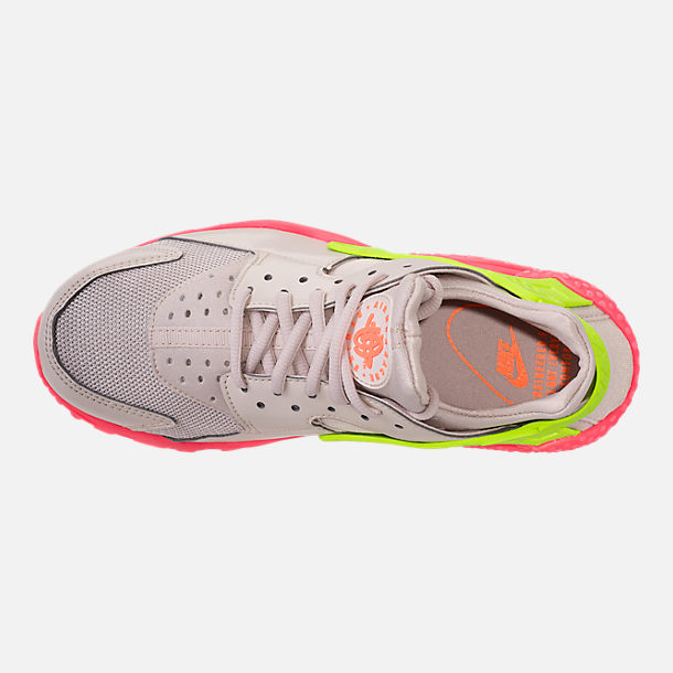 meet d3b88 89f1e ... coupon code for top view of womens nike air huarache running shoes in  desert sand volight