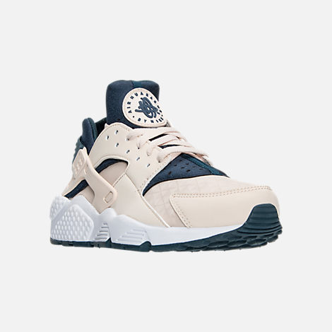 Three Quarter view of Women's Nike Air Huarache Running Shoes in Light  Orewood Brown/Armory