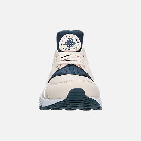b5f366464bcd ... shopping front view of womens nike air huarache running shoes in light  orewood brown armory navy