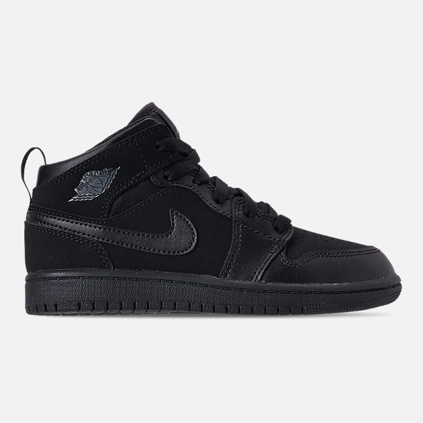 6ec4877e7b6901 Right view of Little Kids  Air Jordan 1 Mid Basketball Shoes in Black Dark