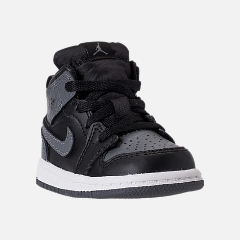 premium selection 8fd1b 1a434 ... denmark three quarter view of kids toddler air jordan 1 mid retro  basketball shoes in black