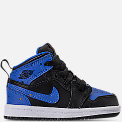 Kids' Toddler Air Jordan Retro 1 Mid Basketball Shoes