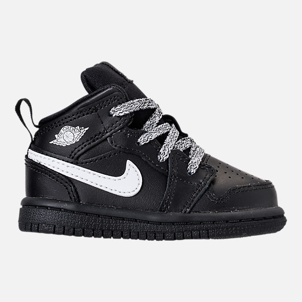 reputable site 41245 3d656 ... best price right view of kids toddler air jordan 1 mid retro basketball  shoes in black